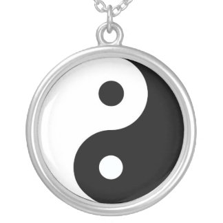 Yin and Yang Silver Plated Necklace