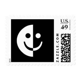 Yin and Yang Smiley Postage Stamps