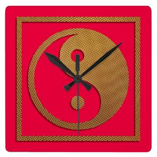 Yin and Yang Square Wall Clocks