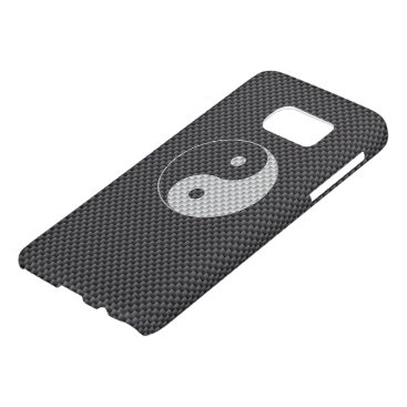 Beach Themed Yin and Yang Symbol in Black & White Carbon Fiber Samsung Galaxy S7 Case