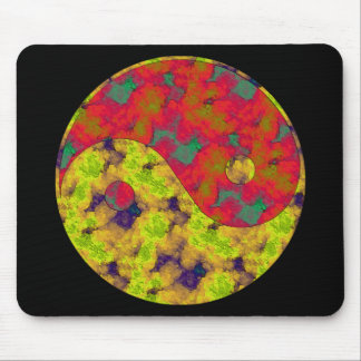 yin and yang symbol mouse pad