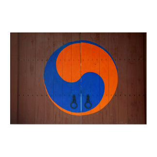 Yin and Yang symbol, South Korea Acrylic Wall Art