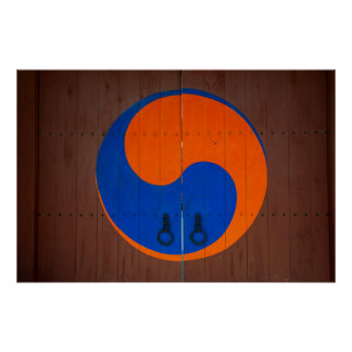 Yin and Yang symbol, South Korea Poster