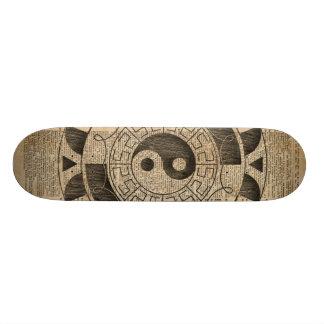 Yin And Yang Symbol Taijitu Mandala Vintage Dictio Skateboard Deck