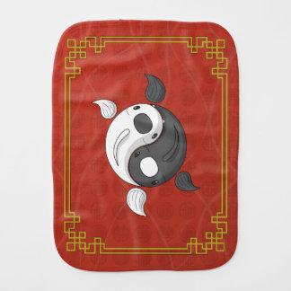 Yin and Yang the Koi Burp Cloth