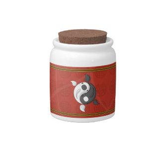 Yin and Yang the Koi Candy Jar