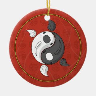 Yin and Yang the Koi Ornament