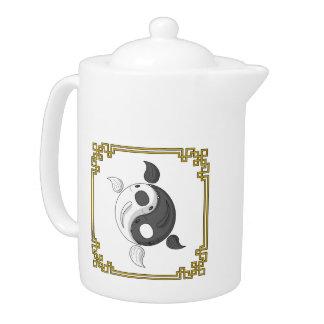 Yin and Yang the Koi Teapot