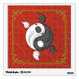 Yin and Yang the Koi Wall Decal