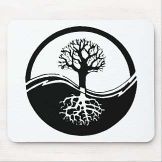 Yin and yang tree of life mouse pad