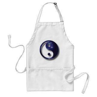 Yin and Yang Universe Symbol Adult Apron
