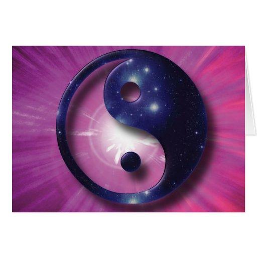 Yin and Yang Universe Symbol Greeting Card