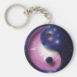 Yin and Yang Universe Symbol Keychain