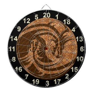 Yin and Yang wood dart board with numbers