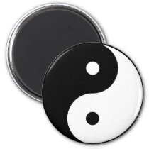 yin and yang yoga magnet