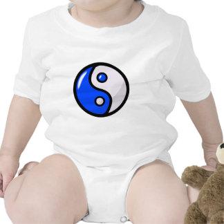 Yin azul brillante Yang en equilibrio Trajes De Bebé