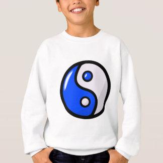 Yin azul brillante Yang en equilibrio Sudadera