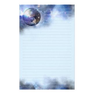 Yin azul cósmico Yang alineado Papelería Personalizada