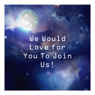 Yin azul cósmico Yang Invitacion Personal