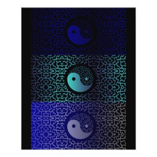 Yin azul Yang Tarjetones