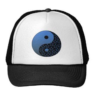 Yin azul Yang Gorro De Camionero