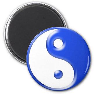 Yin azul Yang Imán Redondo 5 Cm