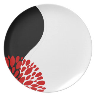 Yin blanco negro rojo moderno fresco Yang Plato
