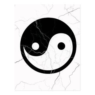 Yin blanco y negro y Yang Postales