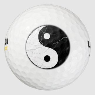 Yin blanco y negro Yang Pack De Pelotas De Golf