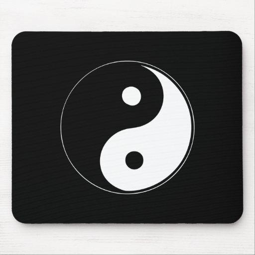 Yin clásico Yang Alfombrilla De Ratón