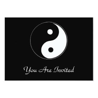 """Yin clásico Yang Invitación 5"""" X 7"""""""
