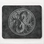 Yin de piedra oscuro Yang Phoenix Alfombrilla De Ratones
