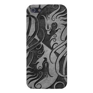 Yin de piedra oscuro Yang Phoenix iPhone 5 Carcasa