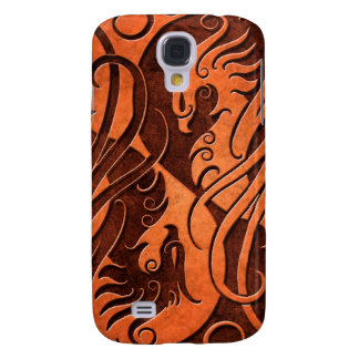 Yin de piedra rojo Yang Phoenix Funda Para Galaxy S4