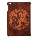 Yin de piedra rojo Yang Phoenix iPad Mini Protectores