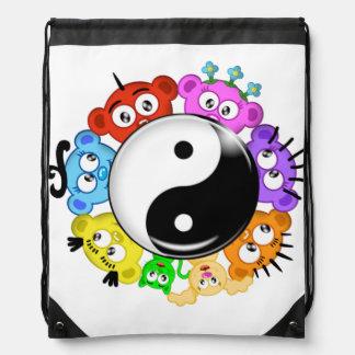 yin/diseño del peekaboo del planeta de Yang Mochila