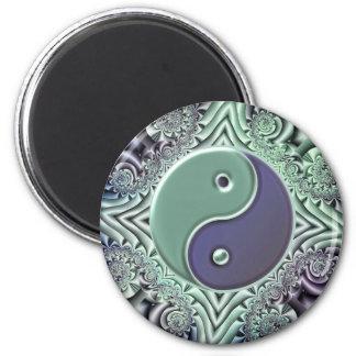 Yin en colores pastel Yang Imán Redondo 5 Cm