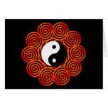 Yin espiral Yang Sun Tarjeta De Felicitación
