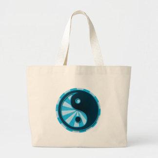 Yin estilizado Yang Bolsa Tela Grande