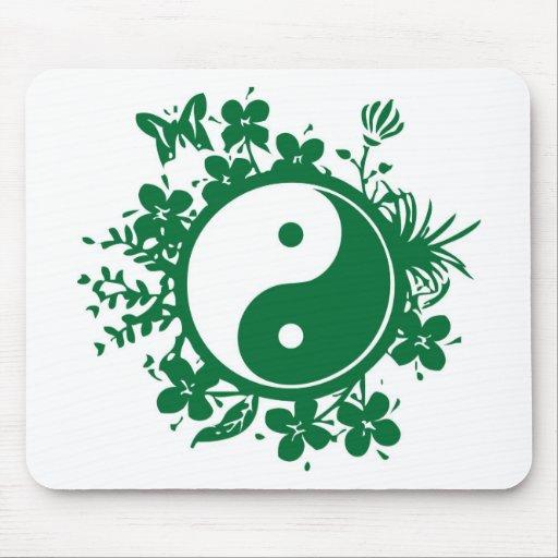 Yin floral Yang Tapetes De Ratón