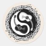 Yin Guit Notation Round Sticker