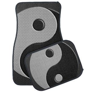 Yin intrépido Yang en estilo de la impresión de la Alfombrilla De Auto