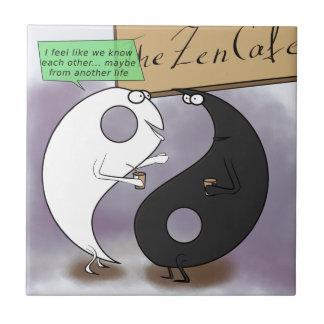 Yin Meets Yang Zen Funny Ceramic Tile