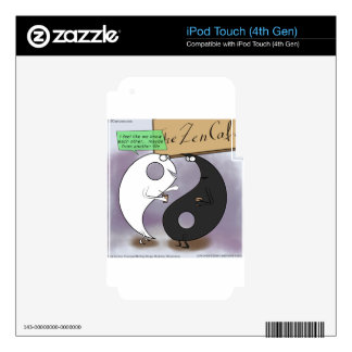 Yin Meets Yang Zen Funny Decal For iPod Touch 4G