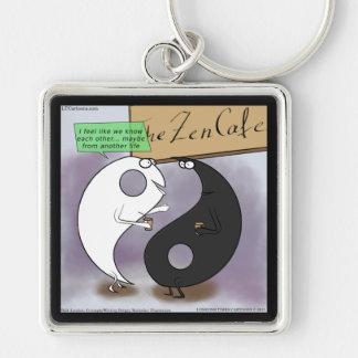 Yin Meets Yang Zen Funny Keychain