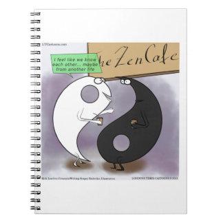 Yin Meets Yang Zen Funny Notebook