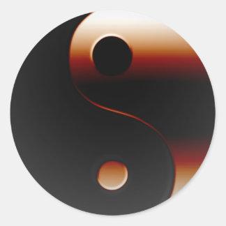 Yin metálico Yang Pegatinas