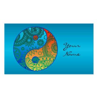Yin modelado Yang anaranjado y azul Tarjetas De Visita