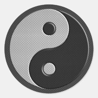 Yin moderno Yang en estilo de la impresión de la Pegatina Redonda