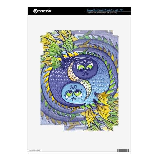 Yin monstruoso Yang Pegatinas Skins Para iPad 3
